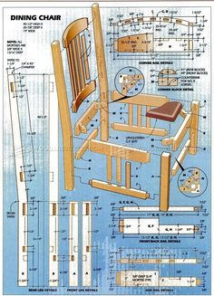 #285 Dining Chair Plans - Furniture Plans and Projects