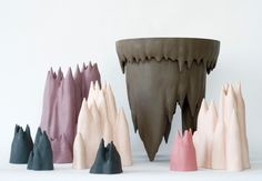 Gustaf Nordenskiöld: Beardrops, colored porcelain, 2009