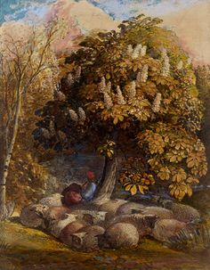 Pastoral with a Horse-Chestnut Tree Samuel Palmer c. 1831-1832