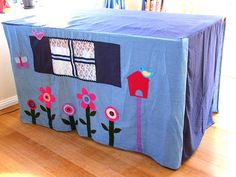 cubby house sheet, i think? it goes over your dining table