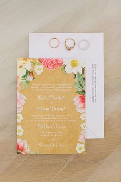floral wedding invitations l 10 whimsical floral wedding invitations l Rustic Folk Weddings