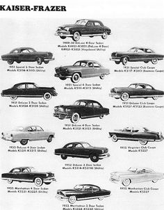 Identifying 1947 to 1953 Kaiser Frazer Automobiles - Route 66 Hot Rod High Vintage Trucks, Vintage Auto, Ford Classic Cars, Us Cars, Race Cars, Car Advertising, Automotive Art, Cars And Motorcycles, Cool Cars