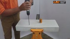 CMT hole saw 550 on aerated concrete