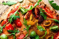Grilled Pizza with Cherry Tomatoes & Arugula