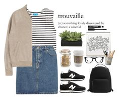 """""""#409"""" by blacksky000 ❤ liked on Polyvore featuring New Balance, M.i.h Jeans, A.P.C., Crate and Barrel, Lux-Art Silks, ESSEY, MANGO, Muse and Anastasia"""