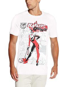 Harley Quinn Herren T-Shirt Gr. Small, Weiß - Weiß