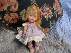 NAN VINTAGE VOGUE STRUNG GINNY DOLL, GORGEOUS EARLY SARAN GOLDEN BLD WIG TAGGED  #DollswithClothingAccessories
