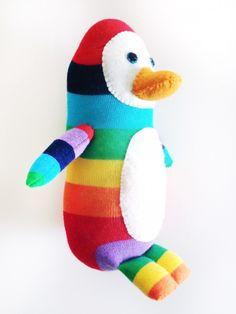 Sock Penguin Tutorial via cómo crear historias | partes sueltas | partes sueltas