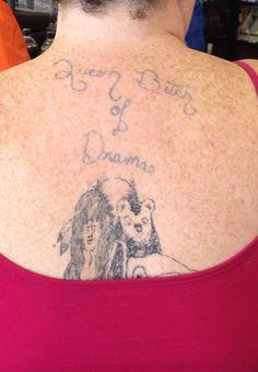 Lock your doors, boys. Lock your doors!.... 16 more horrible tattoos!