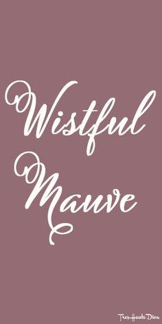 #Pantone Wistful #Mauve ♔ Très Haute Diva