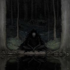"brokensword: "" weirdletter: "" Abandoned Lake, by Artem Demura (Vulpes-Ibculta), via DeviantArt. "" I sense a very strong John Bauer feel here… "" Arte Horror, Horror Art, Dark Fantasy Art, Fantasy Creatures, Mythical Creatures, Creepy Art, Scary, Creepy Images, Art Sombre"
