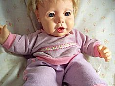 Real Baby by Hasbro 1984 #retro #80s #dolls #toys #1980s@ashley fleming. This looks more like the baby in the sling!