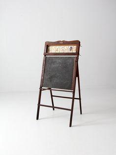1920s Lithoplate Better Than Slate Educational board - 86 Vintage