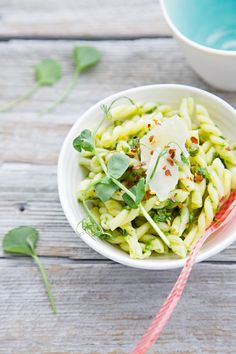 Pasta with Ramp (Wild Leek) Pesto  @Jen Laceda | Tartine and Apron Strings