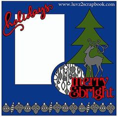 Great holiday scrapbook layout using CTMH Cricut Artbooking - Use your favorite colored, glitter or patterned card stock to complete this layout.
