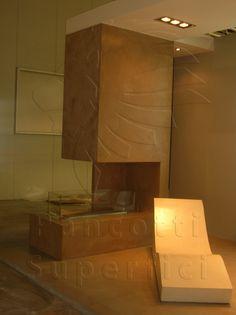 Fireplace in #Microcemento Pancotti