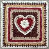January Crochet Along Squares- mellieblossom.com