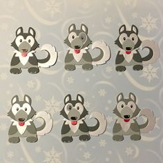 Dog Cards, Kids Cards, Husky, Die Cut Christmas Cards, Cut Out Art, Die Cut Cards, Marianne Design, Animal Cards, Punch Art