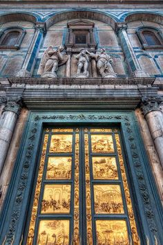 Gates by Lorenzo Ghiberti, Florence Baptistery, Florence, Italy, photo by Todd Landry