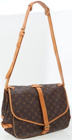 c3593a4040ea Louis Vuitton Classic Monogram Canvas Saumur Messenger Bag Lv Handbags,  Louis Vuitton Handbags, Louis