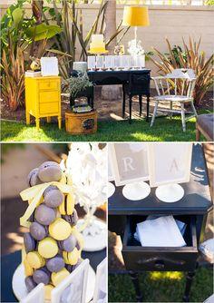 Chá ao ar livre | Amarelo e cinza
