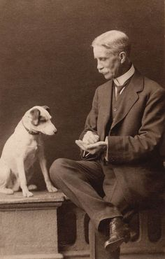 Between 1966 and Libby Hall collected old photographs of dogs, amassing many thousands to assemble what is possibly the largest number. Rat Terriers, Fox Terrier, Vintage Pictures, Old Pictures, Portraits Victoriens, Nanny Dog, Photos With Dog, Vintage Dog, Dog Photography