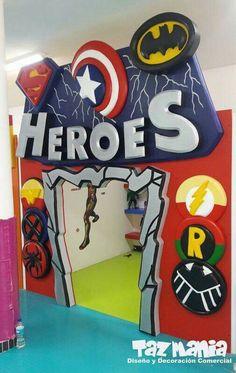 Avengers Birthday, Superhero Birthday Party, 4th Birthday, Superhero Party Decorations, Birthday Decorations, Party Themes, Super Hero Decorations, Anniversaire Wonder Woman, Batman Party