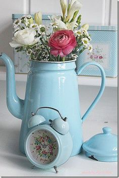 Pretty vintage pitcher with flowers