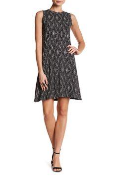 Crew Neck Geometric Print Dress by Karen Kane on @nordstrom_rack