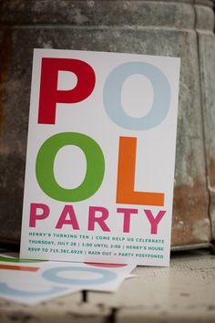 Pool Party Invite by prettygirlshop on Etsy, $21.00