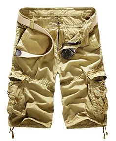 Men's Cycling Pants - JSUN7 Mens Cotton Loose Fit Multi Pocket Cargo Shorts * Visit the image link more details.