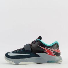 Nike KD VII 7 Mens Basketball Trainers Shoes Sneakers Charcoal/Grey #Nike…