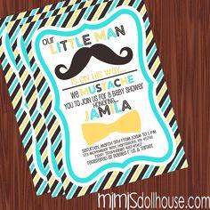 Mustache and bow tie little man onesie banner little man on the little man baby shower invitation filmwisefo