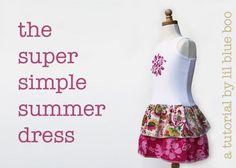 DIY Clothes Refashion: DIY The Super Simple Summer Dress