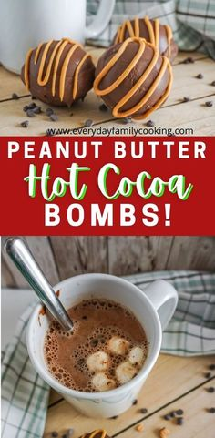 These melting hot cocoa balls are all the rage! Impress your friends and family this Christmas with a homemade gift with these adorable and tasty melting chocolate balls. It's a new way to enjoy hot chocolate! #hotcocoabombs #hotcocoa #peanutbutter #hotchocolate