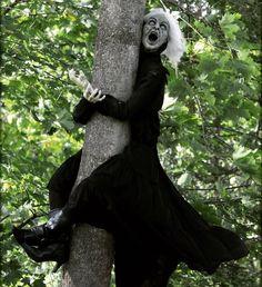 Oops. #witchcrash #halloween #halloweendecorations #yardhaunt #halloweendisplay #witch #lightheartedhalloween
