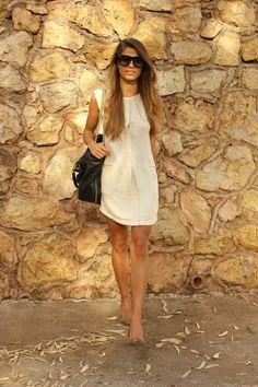 444d5fba293b summer outfits womens fashion clothes style apparel clothing closet ideas  white short dress black handbag sunglasses