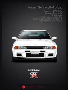"""The Nissan Skyline R32, the car that earned the name """"Godzilla"""" because it was the new monster from Japan on the racetrack. In Australia during the races in Bathurst, these cars dominated the touring car class they were in. Calsonic Nissan Skyline GT-R R32 