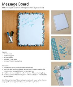 Get the instructions for this easy, fun message board. Great for dorms!