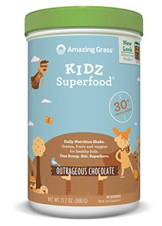 Amazing Grass Kidz Superfood Outrageous Chocolate 60 Servings, 12.7 Oz *** Find out more at the image link.