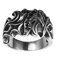 Men Stainless Steel Black Cz Ring,Vintage Gothic No.7,Silver Black JewellryUS http://www.amazon.com/dp/B01DC72JG0/ref=cm_sw_r_pi_dp_P2q.wb11YJ9A5