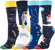 Seorsok Novelty Socks Colorful Funny Mens Crew Socks Outer Space Casual Cotton Socks Novelty Socks, Cotton Socks, Outer Space, Crew Socks, Fashion Brands, Topshop, Colorful, Sexy, Funny