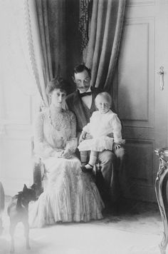 Queen Maud with Crown Prince Olav   Royal Collection Trust