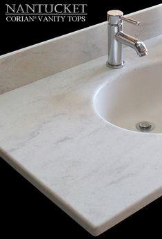Corian Bathroom Vanity bathroom vanity top in corian tumbleweed, found on nantucket