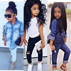 Fashion niños, jeans fashion, toddler fashion, cute girl outfits, little gi