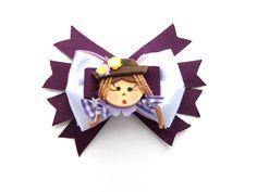 Laço Festa Junina lilás. Laço de fita de cetim com fita de gorgurão para  prender dff84147560