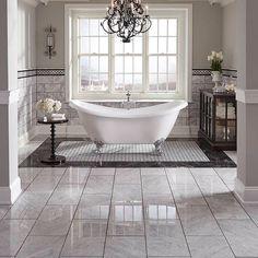 Bathroom Tile Ideas for Big and Small Bathroom - Floor & Wall Tiles Tags: Bathroom Tile, Wall Tile, Floor Tile, Bathroom Remodel Dream Bathrooms, Dream Rooms, Beautiful Bathrooms, Small Bathroom, Bathroom Ideas, Master Bathrooms, White Bathroom, Romantic Bathrooms, Paint Bathroom