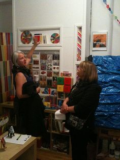 Two visitors at my October 2011 Open Studio. My Art Studio, Open House, Photo Wall, My Arts, Frame, Tiffany, October, Pictures, Picture Frame