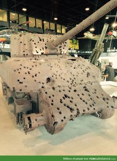 This tank was displayed at a museum in Holland... It really makes you start thinking