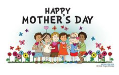 Download a Happy Mother's Day Coloring Card from Kids Yoga Stories